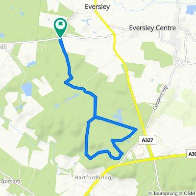 Bramshill Road, Eversley, Hook to Bramshill Road, Eversley, Hook