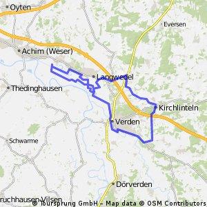 Cluvenhagen - Verden - Luttum - Kirchl. - Walle