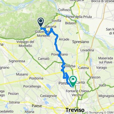 Da Via Monsignor Agnoletti 5, Giavera del Montello a Via Silvello 85, Lancenigo