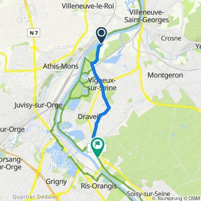 Route from Chemin de l'Écluse 3, Vigneux-sur-Seine