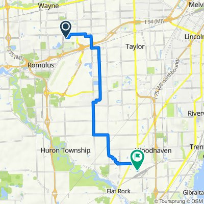 Route to 25838 Bristol Dr, Flat Rock