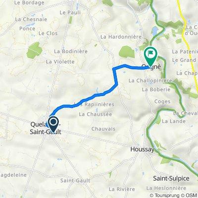 De 1 Rue des Pays de la Loire, Quelaines-Saint-Gault à 4 Chemin de la Benatre, Origné