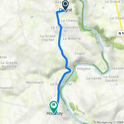 De 4 Chemin de la Benatre, Origné à 7 Rue de La Valette, Houssay