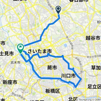 秋ヶ瀬公園・芝川自転車道・荒川サイクリングロード 2020/12/13