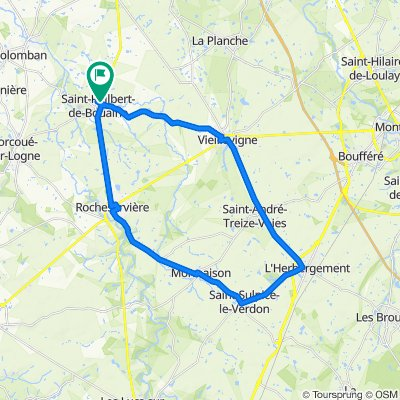 De Avenue de Bretagne 33, Saint-Philbert-de-Bouaine à Allée du Pressoir 7, Saint-Philbert-de-Bouaine