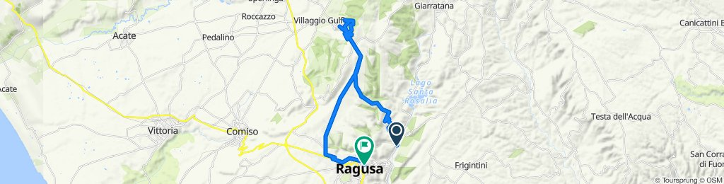 Da Strada Statale 194, Ragusa a Via SS. Salvatore 59, Ragusa