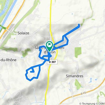 De 6 Place du Marché, Saint-Symphorien-d'Ozon à 4 Rue du Midi, Saint-Symphorien-d'Ozon