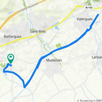 De 41 Boulevard de Massane, Baillargues à 2bis Avenue de la Tonnelle, Baillargues
