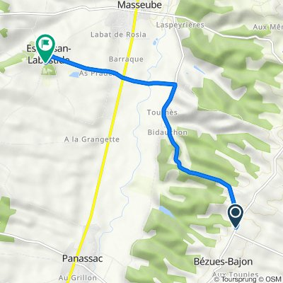 De D139, Bézues-Bajon à 1166 Chemin de Ronde, Esclassan-Labastide