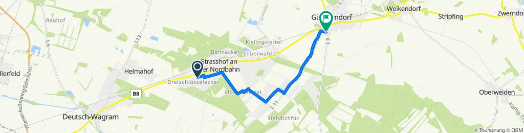 Ganghoferstraße 2, Strasshof an der Nordbahn nach Haidlisse 4, Gänserndorf
