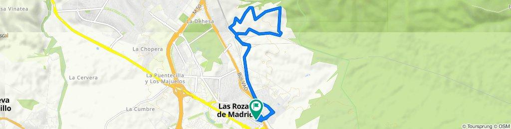 De Calle de la Jabonería, 14, Las Rozas de Madrid a Calle de la Jabonería, 14, Las Rozas de Madrid