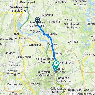 De 155 Route de Trévoux, Saint-Didier-de-Formans à 9 Avenue Henri Barbusse, Albigny-sur-Saône