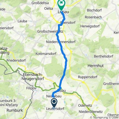 Straße der Jugend 17, Leutersdorf nach Altmarkt 13, Löbau