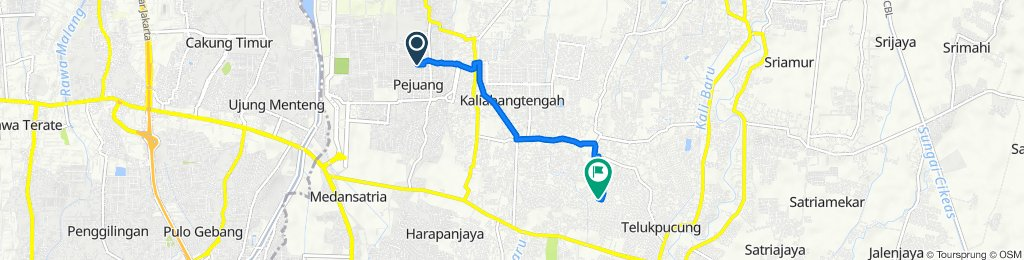 Jalan Pejuang VII 54, Kecamatan Medan Satria to Jalan Perum Villa Indah Permai 7, Kecamatan Bekasi Utara