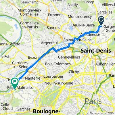 De 2 Allée Albert Roussel, Sarcelles à 278 Avenue Napoléon Bonaparte, Rueil-Malmaison