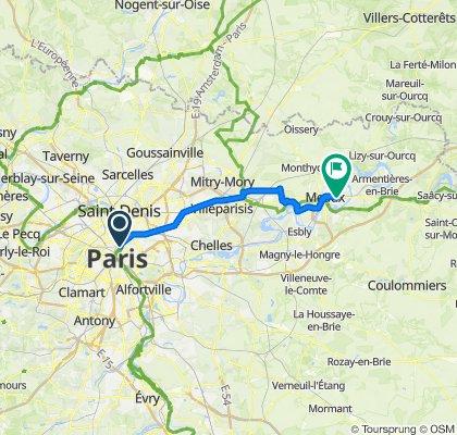 Paris - Strassburg 2011  bis Meaux