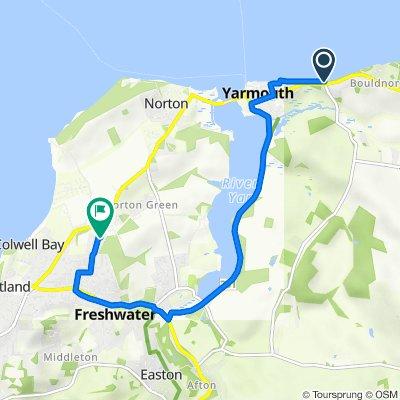 Route to 12 Heathfield Close, Freshwater