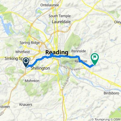 201 Bainbridge Cir, Reading to 235 Constitution Ave, Reading
