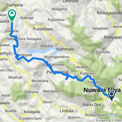 Peradeniya-Badulla-Chenkaladi Highway, Nuwara Eliya to Ethgaala Main Lane 633, Ethgala