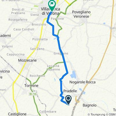 Da Via delle Compagnie 23, Nogarole Rocca a Via Angelo Messedaglia 159, Villafranca di Verona