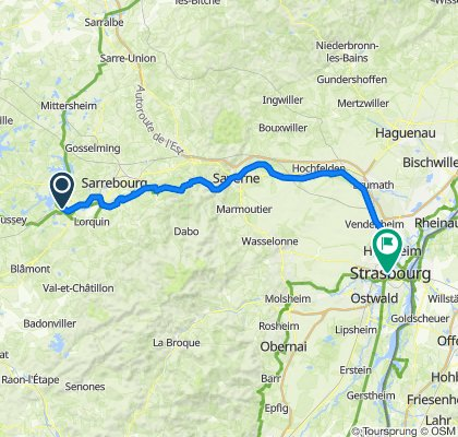 Gonrexange - Strassburg