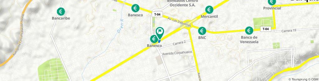 De Avenida Florencio Jiménez, Barquisimeto a Avenida Florencio Jiménez, Barquisimeto
