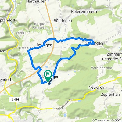 Dietingen-Gößlingen 17km
