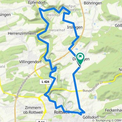 Dietingen-Rottweil Burgen am Neckar 30km
