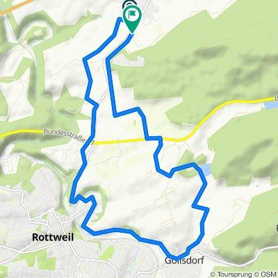 Dietingen Rottweil-Linsenberweiher 14km