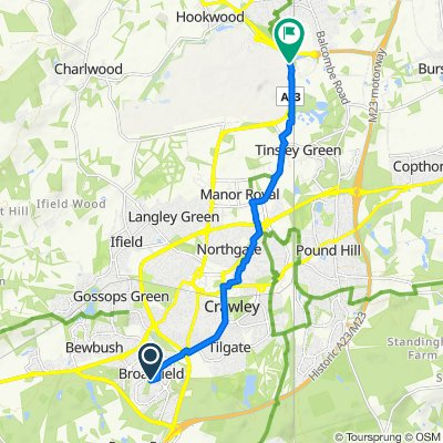 10 Greenwood Court, Webb Close, Crawley to London Road, London Gatwick Airport, Gatwick