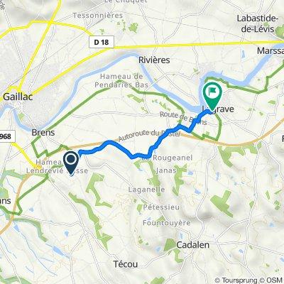 De 430 Chemin du Rec, Brens à 16 Rue de Touny Leris, Lagrave