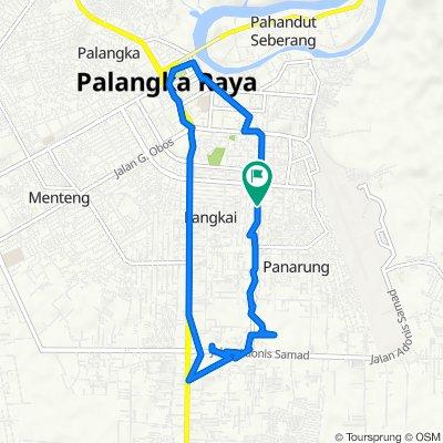 Jalan Damai 9, Kecamatan Pahandut to Jalan Seth Adji 45, Kecamatan Pahandut