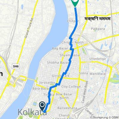 Princep Street 50, Kolkata to gulab sporting club, Kolkata