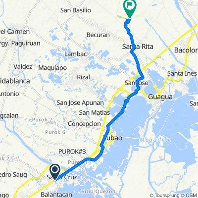Jose Abad Santos Avenue, Lubao to Unnamed Road, Santa Rita