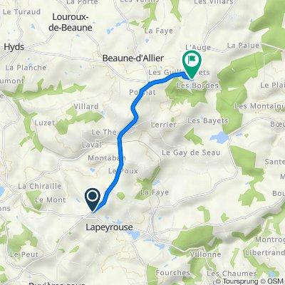 De D13, Lapeyrouse à Les Bordes, Beaune-d'Allier