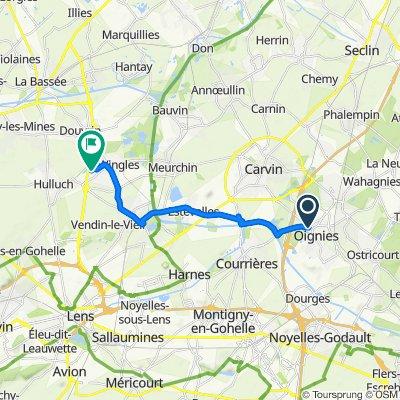 Itinéraire vers 1 Rue de Bretagne, Wingles
