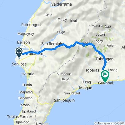 Badiang-San Fernando Road, San Jose de Buenavista to Rizal Street, Guimbal