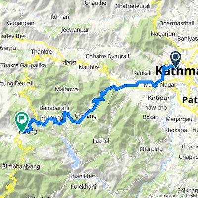 Kathmandu to Thana Bazar