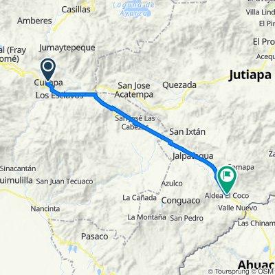 Cuilapa a Entrada a La Cueva de Andá Mirá, El Coco, Jalpatagua