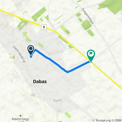 Klapka utca 29, Dabas to Dabas, gyóni elágazás
