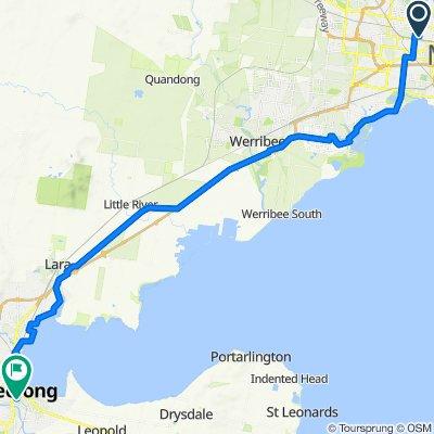 WeFo to Geelong Stn (via Altona)