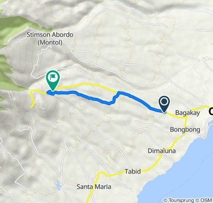 Route from Bagacay Cadre Road, Ozamiz City
