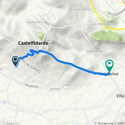 Da Via Carini 22, Castelfidardo a Via Salvo D'Acquisto 2/A, Acquaviva