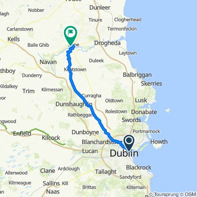 Route from 19–31 Fourth Road, Dublin 3