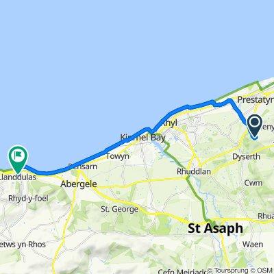 Bryniau Uchaf Farm, Bryniau, Rhyl to 19 Crestview, Abergele Road, Abergele