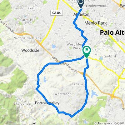 10 Mount Vernon Ln, Atherton to 2405 Alpine Rd, Menlo Park