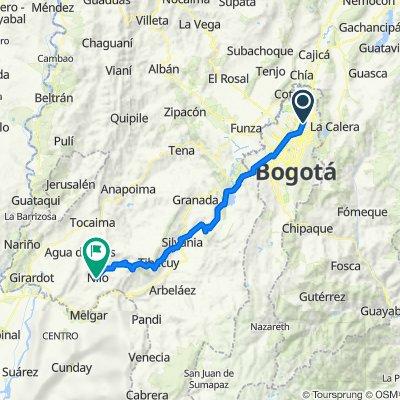 Bogota a Cascadas de Nilo