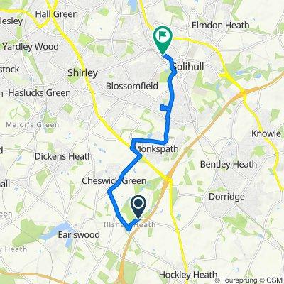 5 Pettifer Close, Solihull to 38 Ashleigh Road, Solihull