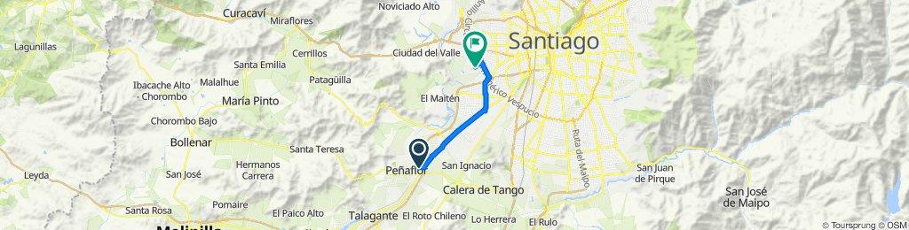 Ruta desde Boldo 524, Peñaflor