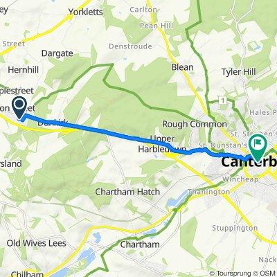 40 St Pauls Road, Faversham to 21 High St, Canterbury
